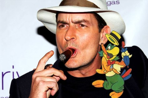You're no Jose Carioca! Get out of here Charlie Sheen!