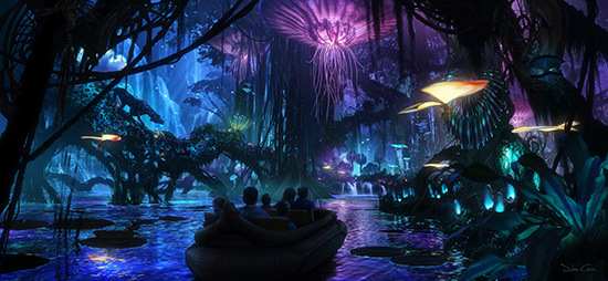 A boat ride through Pandora's evening beauty