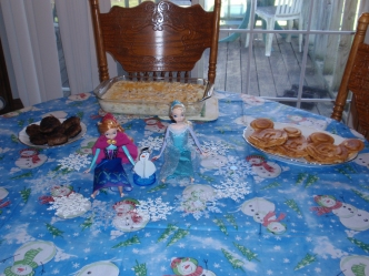 Decorations and Food for Frozen!