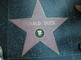Donald's own film star on Hollywood Blvd