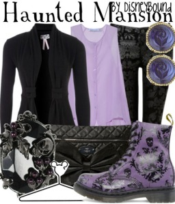 A Haunted Mansion inspired outfit by Leslie on Disneybound.tumbler.com