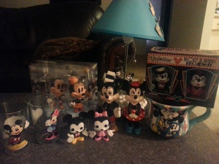 Our personal Mickey and Minnie Mouse collection