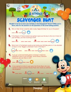 DisneylandBirthdayClubScavengerHunt_Page_1
