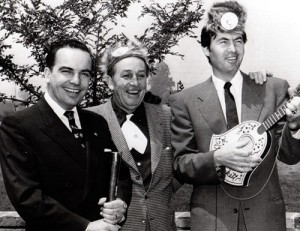 Tennessee Governor Frank Clements with Walt Disney and Fess Parker (Davy Crockett)