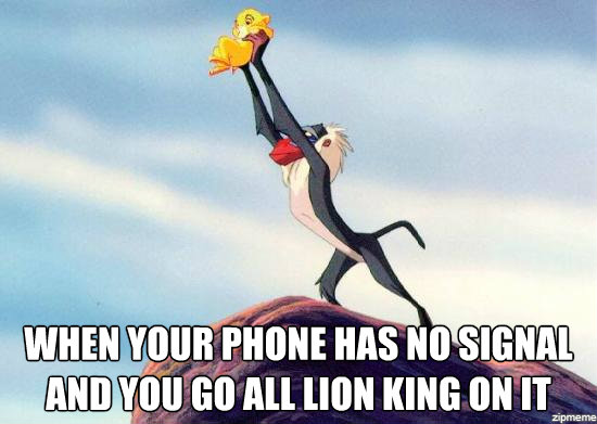 lion king phone meme