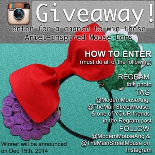 instagram disney giveaway contest